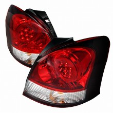 2007-2008 TOYOTA YARIS LED TAIL LIGHTS (PAIR) RED 3 DOOR (Spec-D Tuning)