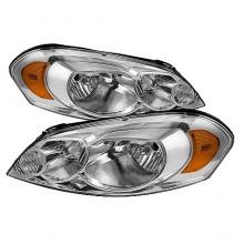 2006-2012 Chevy Impala Crystal HeadLights (PAIR) - Chrome (Spyder Auto)