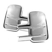2007-2012 Chevy Silverado HD 2500/3500 Mirror Cover w/o Signal hole - Chrome (Spyder Auto)
