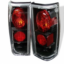 1982-1993 Chevy S10 Euro Style Tail Lights (PAIR) - Black (Spyder Auto)