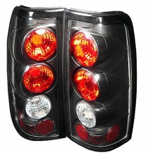 2004-2006 GMC Sierra 1500/2500/3500 ( Does Not Fit Stepside ) Euro Style Tail Lights (PAIR) - Black (Spyder Auto)
