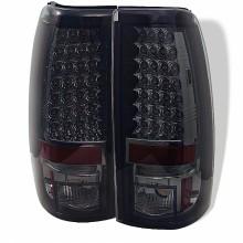 1999-2003 GMC Sierra 1500/2500/3500 LED Tail Lights (PAIR) - Smoke (Spyder Auto)