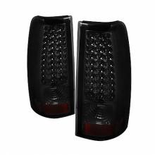 2004-2006 GMC Sierra 1500/2500/3500 Fleetside LED Tail Lights (PAIR) - Smoke (Spyder Auto)