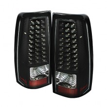 1999-2003 GMC Sierra 1500/2500/3500 LED Tail Lights (PAIR) - Black (Spyder Auto)