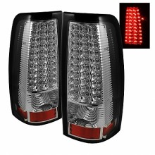 1999-2003 GMC Sierra 1500/2500/3500 LED Tail Lights (PAIR) - Chrome (Spyder Auto)