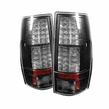 2007-2014 Chevy Suburban - LED Tail Lights (PAIR) - Black (Spyder Auto)