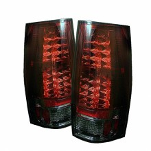 2007-2014 Chevy Suburban - LED Tail Lights (PAIR) - Red Smoke (Spyder Auto)