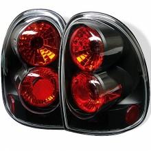 1996-2000 Dodge Caravan Euro Style Tail Lights (PAIR) - Black (Spyder Auto)