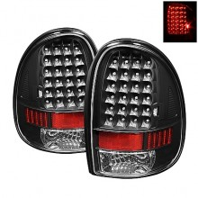 1996-2000 Dodge Caravan LED Tail Lights (PAIR) - Black (Spyder Auto)