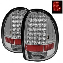 1996-2000 Dodge Caravan LED Tail Lights (PAIR) - Chrome (Spyder Auto)