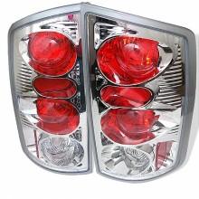 2002-2006 Dodge Ram 1500 Euro Style Tail Lights (PAIR) - Chrome (Spyder Auto)