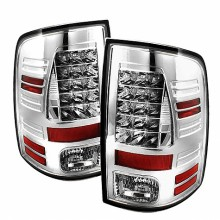 2009-2012 Dodge Ram 1500 LED Tail Lights (PAIR) - Chrome (Spyder Auto)