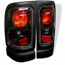 1994-2001 Dodge Ram 1500 Euro Style Tail Lights (PAIR) - Black (Spyder Auto)
