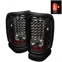 1994-2001 Dodge Ram 1500 LED Tail Lights (PAIR) - Black (Spyder Auto)
