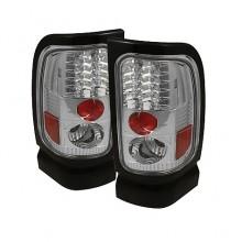 1994-2001 Dodge Ram 1500 LED Tail Lights (PAIR) - Chrome (Spyder Auto)