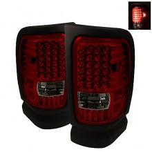 1994-2001 Dodge Ram 1500 LED Tail Lights (PAIR) - Red Smoke (Spyder Auto)