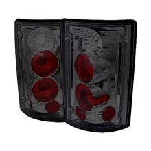 1995-2006 Ford Econoline Van 150/250/350/450/550 Euro Style Tail Lights (PAIR) - Smoke (Spyder Auto)