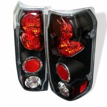 1987-1996 Ford F150 Euro Style Tail Lights (PAIR) - Black (Spyder Auto)