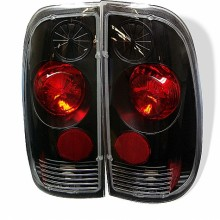 1997-2003 Ford F150 Styleside Euro Style Tail Lights (PAIR) - Black (Spyder Auto)