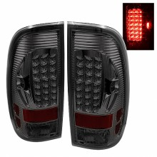 1997-2003 Ford F150 Styleside LED Tail Lights (PAIR) - Smoke (Spyder Auto)