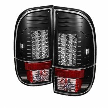 1997-2003 Ford F150 Styleside Version 2 LED Tail Lights (PAIR) - Black (Spyder Auto)
