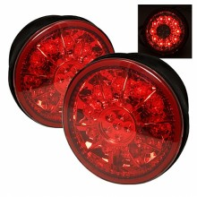 2001-2003 Lexus IS300 LED Trunk Tail Lights (PAIR) - Red Clear (Spyder Auto)