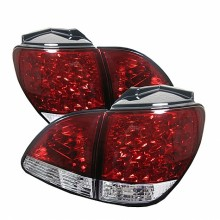 2001-2003 Lexus RX300 LED Tail Lights (PAIR) - Red Clear (Spyder Auto)
