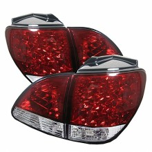 1998-2000 Lexus RX300 LED Tail Lights (PAIR) - Red Clear (Spyder Auto)
