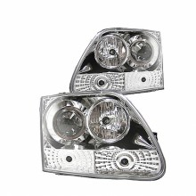 1997-2003 Ford F150 Projector HeadLights (PAIR) - ( Will Not Fit Manufacture Date Before 6/1997 ) - Chrome - High H1 - Low H1 (Spyder Auto)
