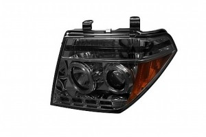 2005-2007 Nissan Pathfinder Projector HeadLights (PAIR) - LED Halo - LED ( Replaceable LEDs ) - Smoke - High H1 (Included) - Low H1 (Included) (Spyder Auto)