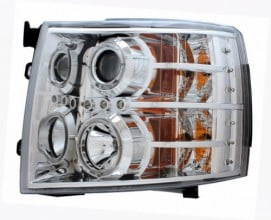 2007-2013 CHEVY SILVERADO PROJECTOR HEADLIGHTS (PAIR) CHROME CLEAR  (Anzo USA)