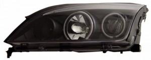 2005-2007 FORD FOCUS ZX4 PROJECTOR HEADLIGHTS (PAIR) 4-DOOR SEDAN HALO BLACK CLEAR(CCFL)  (Anzo USA)