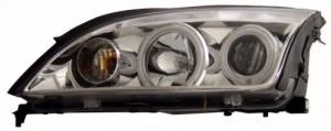 2005-2007 FORD FOCUS ZX4 PROJECTOR HEADLIGHTS (PAIR) 4-DOOR SEDAN HALO CHROME CLEAR(CCFL)  (Anzo USA)