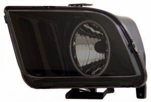 2005-2009 FORD MUSTANG HEADLIGHTS (PAIR) HALO SMOKE (CCFL)  (Anzo USA)