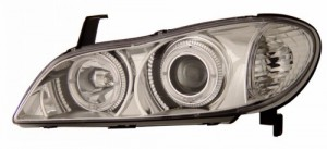 2000-2001 INFINITI I-30 PROJECTOR HEADLIGHTS (PAIR) HALO CHROME CLEAR   (Anzo USA)