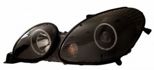 1998-2005 LEXUS GS 300 PROJECTOR HEADLIGHTS (PAIR) HALO BLACK CLEAR (CCFL)  (Anzo USA)