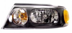 1998-2002 LINCOLN NAVIGATOR HEADLIGHTS (PAIR) BLACK AMBER   (Anzo USA)