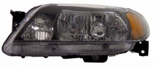 2001-2003 MAZDA PROTEGE CRYSTAL HEADLIGHTS (PAIR) BLACK AMBER   (Anzo USA)