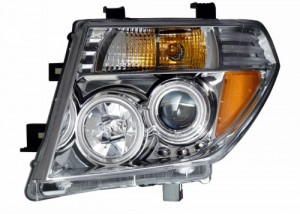 2005-2008 NISSASN FRONTIER PROJECTOR HEADLIGHTS (PAIR) CHROME CLEAR AMBER (Not fit V8)  (Anzo USA)