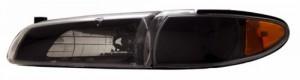1997-2003 PONTIAC GRAND PRIX HEADLIGHTS (PAIR) WITH CORNER LIGHT BLACK AMBER  (Anzo USA)