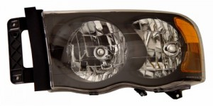 2002-2005 DODGE RAM CRYSTAL HEADLIGHTS (PAIR) BLACK AMBER   (Anzo USA)