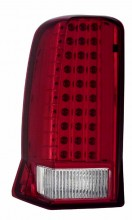 2002-2006 CADILLAC ESCALADE TAIL LIGHTS (PAIR) RED/CLEAR (W/O CAP)  (Anzo USA)