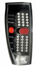 2002-2006 CHEVY AVALANCHE LED TAIL LIGHTS (PAIR) BLACK  (Anzo USA)