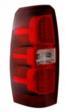 2007-2008 CHEVY AVALANCHE LED TAIL LIGHTS (PAIR) RED/CLEAR  (Anzo USA)