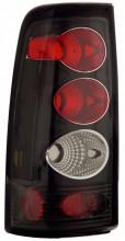 1999-2002 CHEVY SILVERADO TAIL LIGHTS (PAIR) BLACK   (Anzo USA)