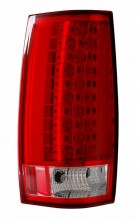 2007-2013 CHEVY SUBURBAN LED G4 TAIL LIGHTS (PAIR) RED/CLEAR (ESCALADE LOOK)  (Anzo USA)
