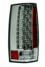 2007-2013 CHEVY SUBURBAN LED G4 TAIL LIGHTS (PAIR) ALL CROME (ESCALADE LOOK)  (Anzo USA)