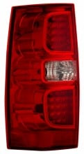 2007-2013 CHEVY SUBURBAN TAIL LIGHTS (PAIR) RED/CLEAR   (Anzo USA)