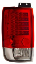 1997-2002 FORD EXPEDITION LED TAIL LIGHTS (PAIR) RED/CLEAR   (Anzo USA)