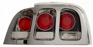 1994-1998 FORD MUSTANG TAIL LIGHTS (PAIR) CHROME  (Anzo USA)